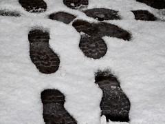 Lost (hiskinho) Tags: snow textura lost shoe nieve perdido huellas suela zaato