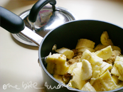 banana in saucepan