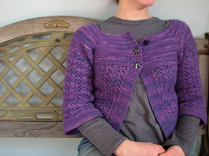 Lindsey's Feb Lady Sweater With Glass Buttons