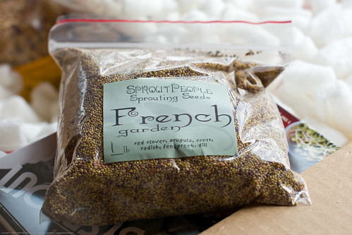 Raw Food: organic sprouting french garden mix