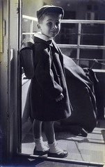 Off to school? (spysgrandson) Tags: blackandwhite israel 1950s youngchild offtoschool