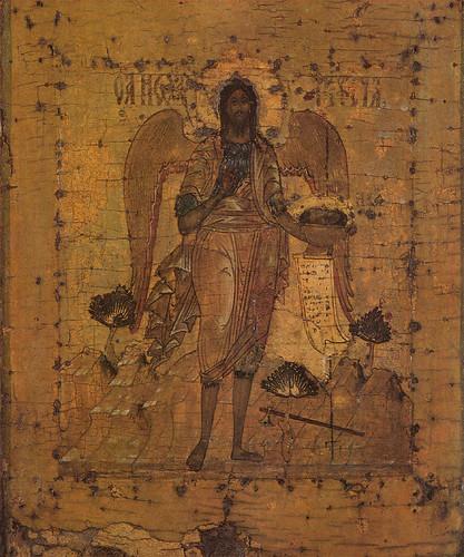013- Juan Bautista con alas. Museo de Riazan- Siglo XVI