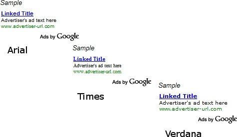 How to choose the right font face for your Google AdSense ads