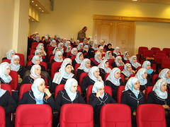 Female students ready for the debate (Projecting British Islam) Tags: lebanon students female alazhar delegates pbi sabira lakha
