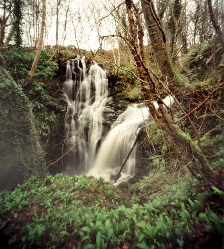 Fairlie castle waterfall Agfa Billy pinhole image 06Mar09