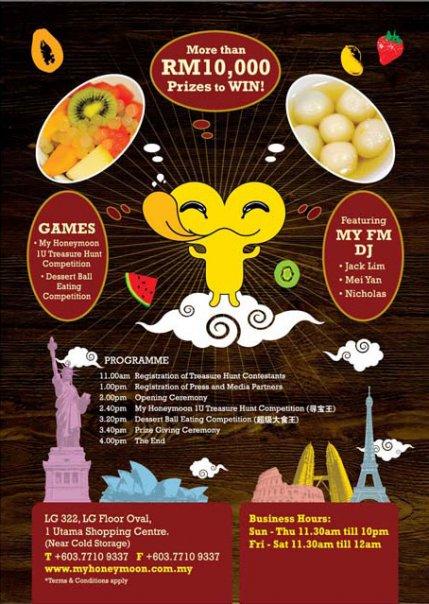 My Honeymoon Dessert Restaurant Grand Opening Contest @ 1Utama