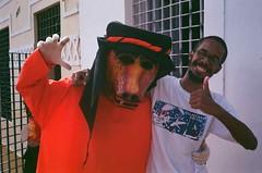 bruno e o urso (renatz) Tags: carnival brazil film carnaval 2009 pernambuco olinda yashicamf3