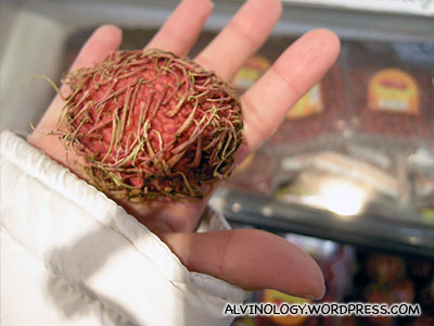 Rambutans are expensive in Japan and are sold in singular