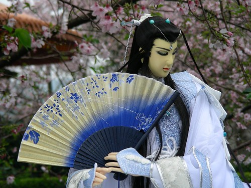 天元宮-吉野櫻與布袋戲偶