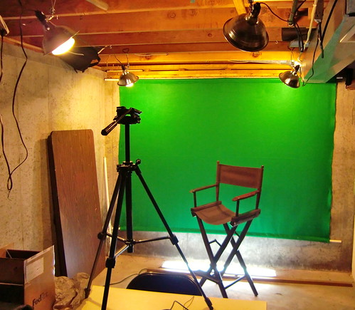 Basement green screen set