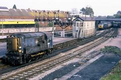 Shunter 08953 Newton Abbot (Stapleton Road) Tags: works britishrail newtonabbot class47 diesels class08 83a depotcode semaphoresignalssignalbox