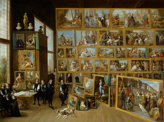 Teniers the Younger, David (1610-1690) - 1630s Leopold Wilhelm in his Gallery (RasMarley) Tags: dogs animals interior 17thcentury group painter flemish realism teniers 1630s davidtenierstheyounger tenierstheyounger leopoldwilhelminhisgallery