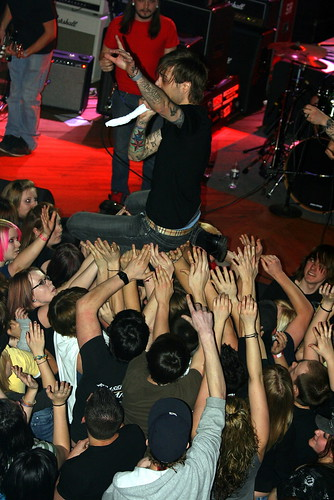 Lead Singer Crowd Surfs
