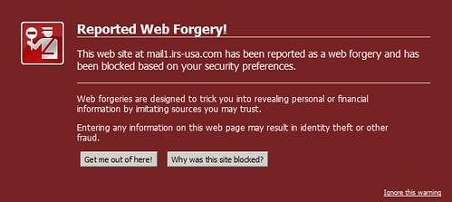 Firefox Phishing Warning