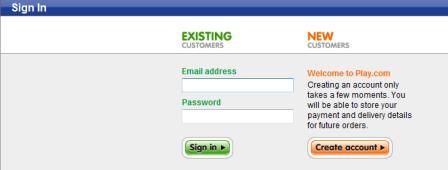 Play.com register before checkout