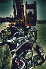 black fire (Hany Soliman) Tags: nikon no c parking bikes harley rocker trucks jeddah davidson saudiarabia sportster d90 nightster
