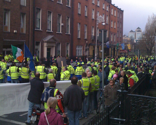 SR Technics protest on Kildare Street