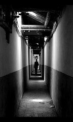 Alone... (davidfattibene) Tags: china urban bw silhouette suzhou nikkor 50mmf14d bnvitadistrada bncitt