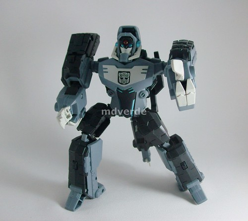 Transformers Shockwave Animated Voyager - modo Autobot Longarm robot