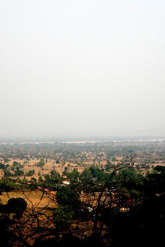 70.從山頂眺望Champasak的平原