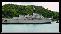 The battleship of Malaysian navy..T.L.D.M Lumut, Perak (Mohamad Redha) Tags: soldier laut navy malaysia battleship tentera secenery tldm redhasflickr