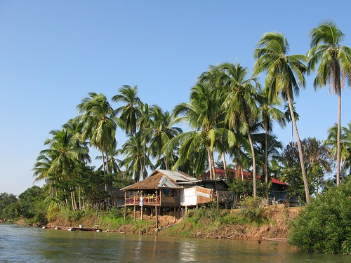 Sonetip Guesthouse bungalows, Don Det, 4,000 Islands, Laos