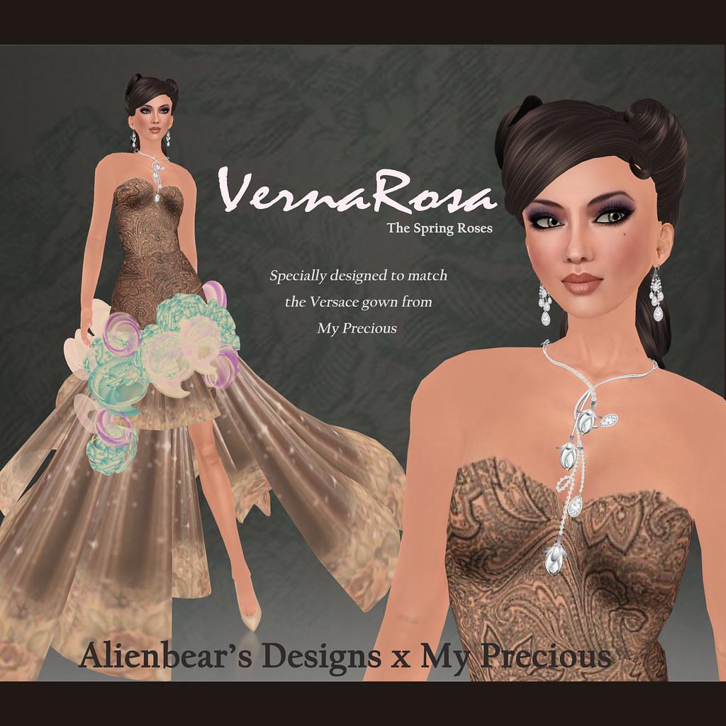 VernaRosa X Versace poster white