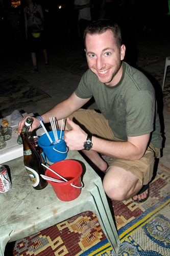 Doug Pours a Drink