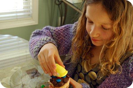 Emma's Easter cupcake