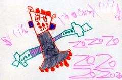 20081123-zozo畫灰色機器人