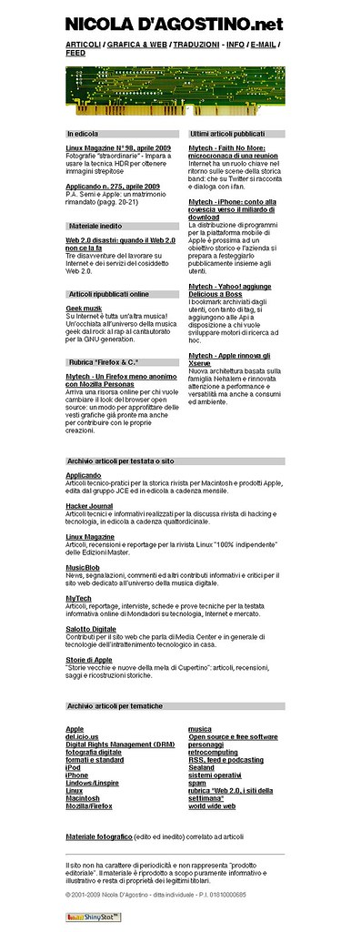 NicolaDAgostino.net aprile 2009