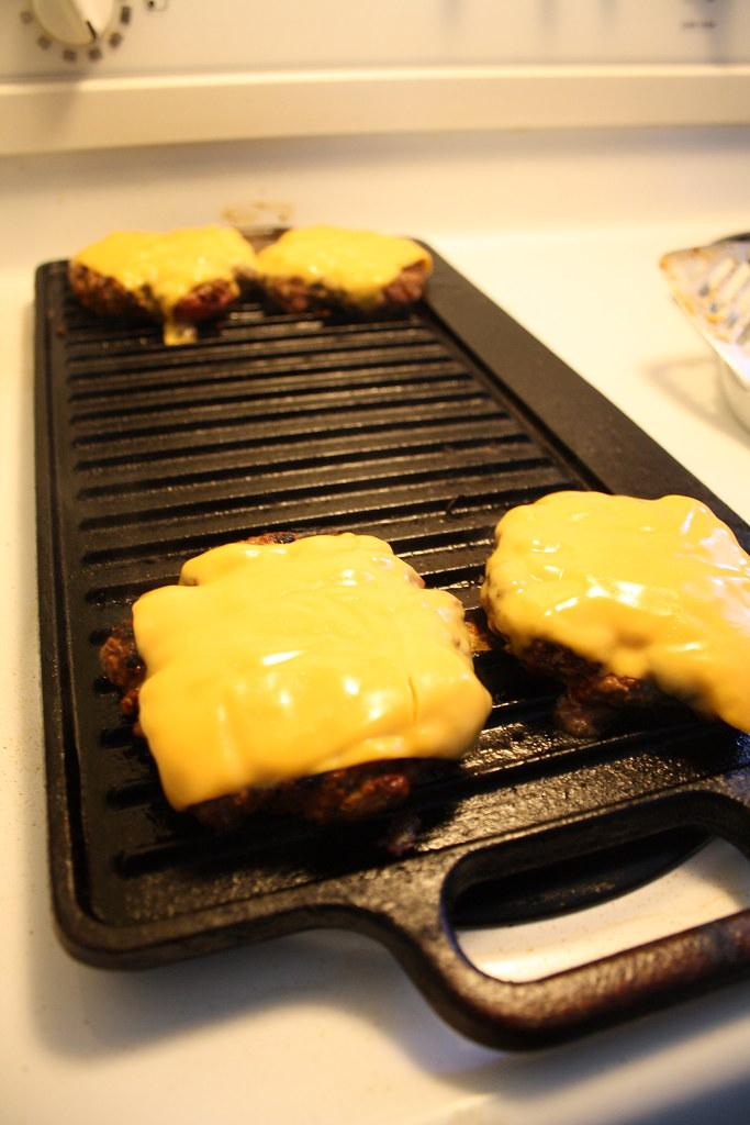 Hamburgers on my indoor grill