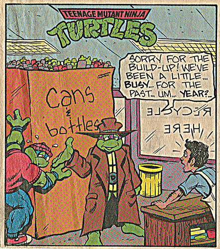 Teenage Mutant Ninja Turtles { newspaper strip }   ..art by Berger - isolated :: 08221993