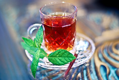 (Jaz Q6r) Tags: blue red green cup leaf tea drink mint sugar  spon      jazq6r