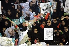 Photograph from a rally for Moussavi in Mashad