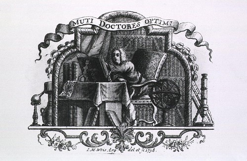 Muti Doctores Optimi (G Behr, artist) in Lexicon physico-chymico-medi cum reale by JB Argentorati, 1738 (NLM)