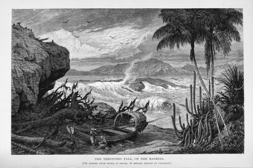 001c-Los Ríos Amazonas y Madeira 1875-La cascada Theotonio en el Madeira