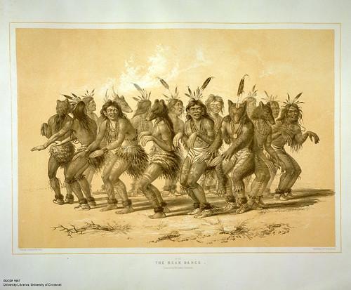003a-La danza del oso-George Catlin 1875-1877