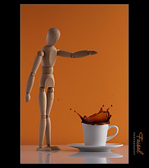 Mr. Woody ... S p l a s h (Faisal | Photography) Tags: orange white coffee speed splash 2009 hight mrwoody canonef100mmf28macrousm canoneos50d faisalphotography
