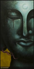 Violent Buddhist (Leon Botha) Tags: art painting buddha buddhist leon violent botha