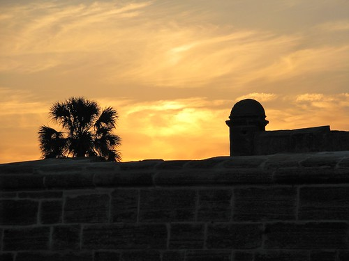 Sunset over St Augustine
