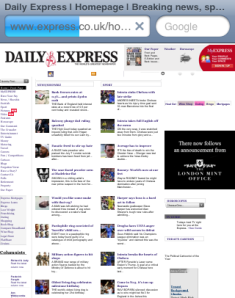 Express on iPhone browser