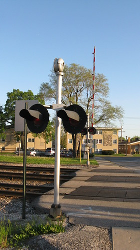 The 73rd Avenue railroad crossing. Elmwood Park  Illinois. May 2009.