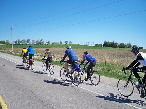 The core group cruising on McCowan Rd.