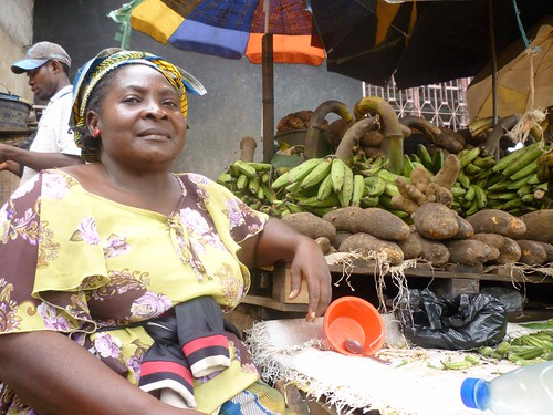 Sandga Market in Douala, Cameroon