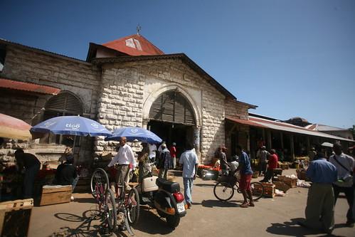 front facade of Darajani Market