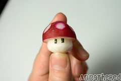 How to make a radish mushroom and Mario mushroom by  AnnaTheRed.