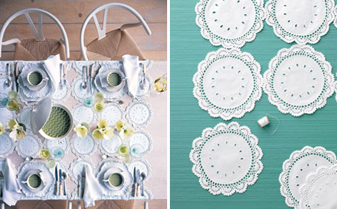 doily table overlay