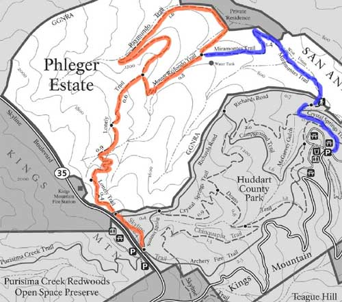 Phleger Estate map