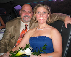 Mr and Mrs (jcolbyc) Tags: portrait smile couple strapless bluedress